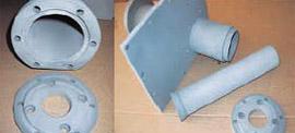 Цилиндры и толкатели прессовочной машины после термоабразивной очистки и покрытия цинком всех поверхностей