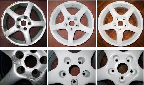 Колесные диски: очистка и покрытие порошковой краской